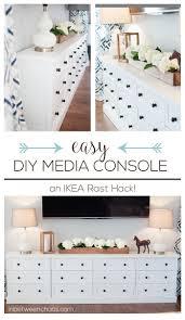 transforming ikea furniture. Easy DIY IKEA Rast Hack Media Console Wtih Tons Of Storage | Inbetweenchaos.com Transforming Ikea Furniture