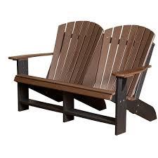 recycled plastic adirondack chairs. Wildridge Outdoor Recycled Plastic Heritage Adirondack Bench - Rocking Furniture Chairs C