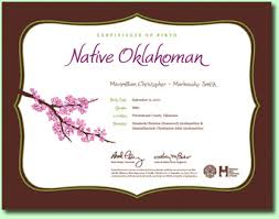 How To Make A Birth Certificate Birth Certificates Oklahoma State Department Of Health