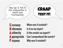 Craap Test Apply The Craap Test To Evaluate Possible Fake News