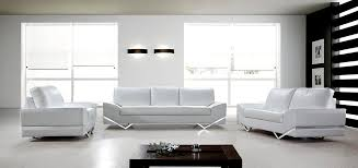 Cool White Modern Sofa Set Endearing With Leather Sofas Furniture