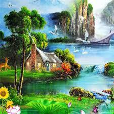 most beautiful natural scenery diy 5d diamond painting cross stitch diamond mosaic diamond embroidery diamond paintings