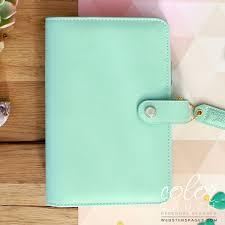 Websters Pages Color Crush Personal Binder Mint Cocoa Daisy