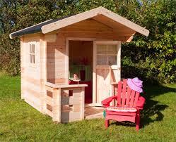 Kinderspielhaus Spielhaus Aus Holz Im Garten Kinder Gartenhaus Jogi