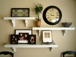 living room shelves home decor floating picture and shelves on wall together it all started after being inspir