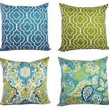 green decorative pillows. Plain Decorative Decorative Pillow Cover Blue And Green  Throw Moroccan  Trellis Inside Pillows G