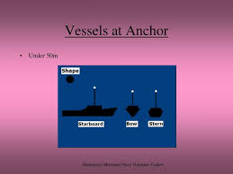 Vessel At Anchor Lights Ppt Navigation Lights Shapes Powerpoint Presentation