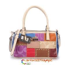 Coach Holiday Matching Stud Medium Ivory Multi Luggage Bags