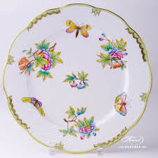 Floral Plate Design Queen Victoria Vbo Dinner Plate