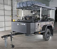 from the same pany building trailer platforms for the armed forces es the xventure a severe duty trailer packed with military grade gear