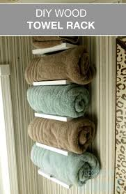 diy bathroom towel storage ideas. free furniture plans to build a wood towel rack when storage space is at minimum and you don\u0027t have linen closet, where do store clean towels? diy bathroom ideas i