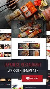 Restaurant Website Design Japanese Restaurant Website Template For Sushi Bar