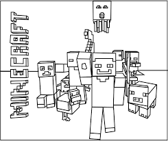 Coloring Minecraft Coloring Pages Free To Color For Kids