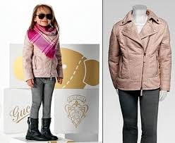 gucci kids. gucci sells grown-up looks for girls and boys including $3,800 pink biker jacket, kids