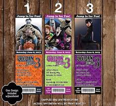 Details About Hotel Transylvania Birthday Party Invitation 3 Designs 20 Pack