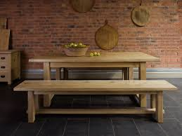 Solid Wood Kitchen Furniture Farmhouse Kitchen Table With Benches Kitchen Table Pinterest