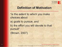 effective strategies for motivating arabic students tesol  definition of motivation ""