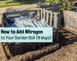 add nitrogen to your garden soil