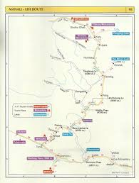 tourist map manali leh route – himachal pradesh travel guide