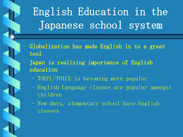 Ppt English Education In The Japanese School System
