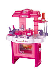 Play Kitchen With Lights And Sounds Shop Generic Deluxe Beauty Kitchen Appliance Cooking Play Set 24 W Lights Sound Online In Dubai Abu Dhabi And All Uae