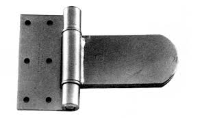 super heavy duty hinges. heavy duty laminated steel hinge- hinge with 270 degree swing. plain steel. 1/2\u2033 pin. #926-004. bracket 1/4\u2033 x 5-1/2\u2033 3\u2033, 21/64\u2033 holes super hinges