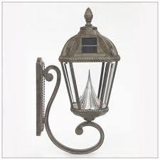 solar wall mount light bronze or