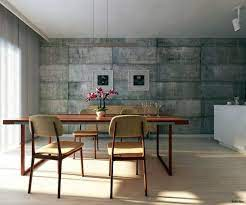 wall color with concrete look walls