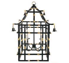 black with gold bamboo lantern 2 sizes