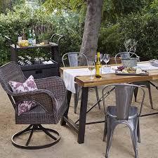 Outdoor metal chair 1950s Give Your Patio Farmhouse Feel Cb2 Patio Furniture Walmartcom