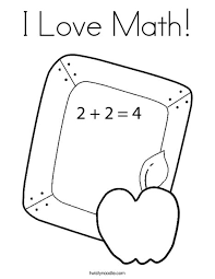 Small Picture I Love Math Coloring Page Twisty Noodle