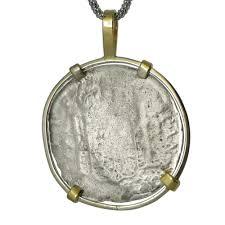 a spanish shipwreck silver coin pendant zoom
