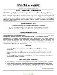 Resume Objective Examples For Retail Resume Template