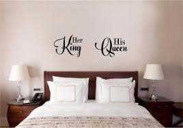 her king his queen love vinyl decal wall decor sticker words lettering e art