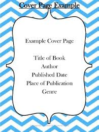Book Report Cover Page Examples - Prepasaintdenis.com