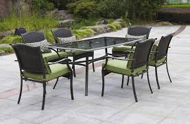 providence piece patio dining set green seats 6 at rite under
