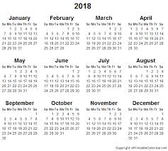 calendar 2018 free printable calendar 2018 pdf free printable editable blank calendar 2018