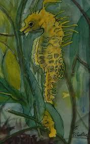 colorful seahorse 2