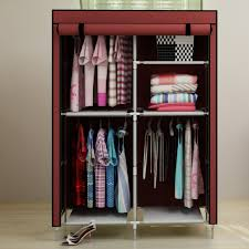 simple dust cloth wardrobe armoire hanging clothes design