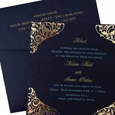card invitation royal blue muslim wedding invitation card gold stamping buy muslim