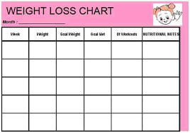 Weight Loss Challenge Tracking Sheet Klemburan Q
