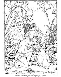 Fairy And Unicorn Coloring Pages For Adults