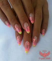 Floral Decorations And Neon Nails Colors 153 622 Color Gel Royal