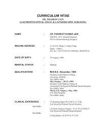 How To Make Resume For Mbbs Doctor Professional Resume Templates