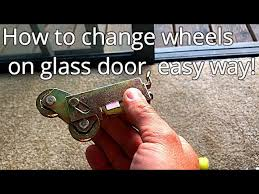 how to fix a glass sliding patio door