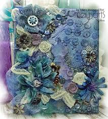 mixed media canvas. Brilliant Media Mixed Media Canvas Using Ribbon Flowers Inside E