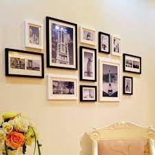 modern wooden photo picture frame wall