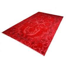 distressed over dyed vintage turkish rug 1950s