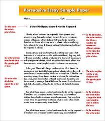 example of a persuasive essay persuasive essay template  persuasive essay template 7 sample example