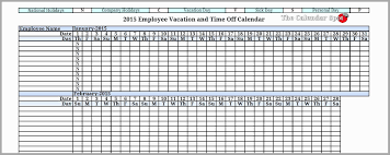 Tracking Employee Time Off Excel Template Employee Vacation Tracker Excel Template 2017 Pleasant Employee Time